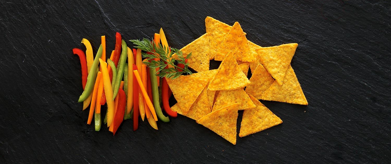 Tortilla Chips mit Paprika